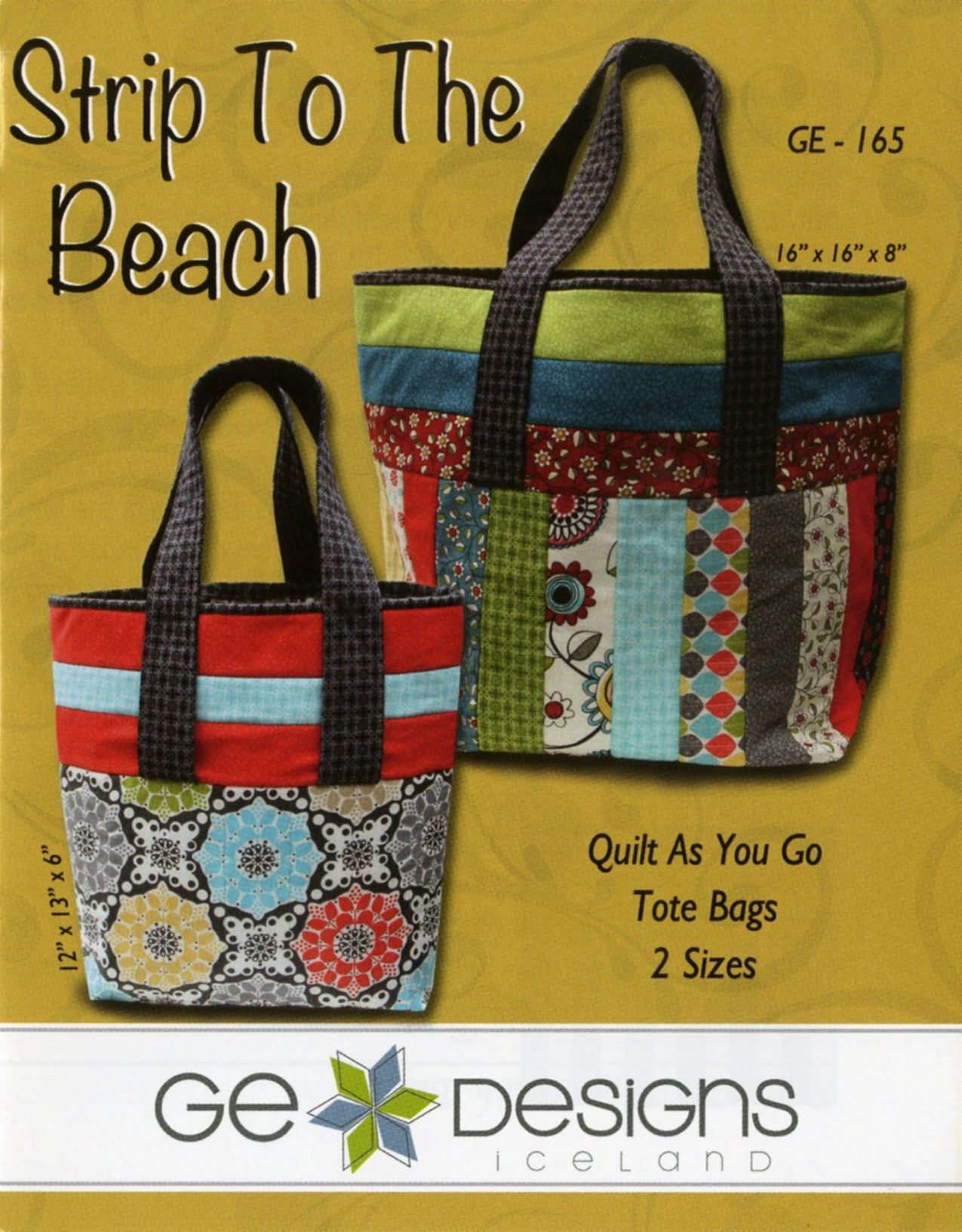 Strip to the Beach Tote Bags | Tote bag : quilt as you go tote - Adamdwight.com