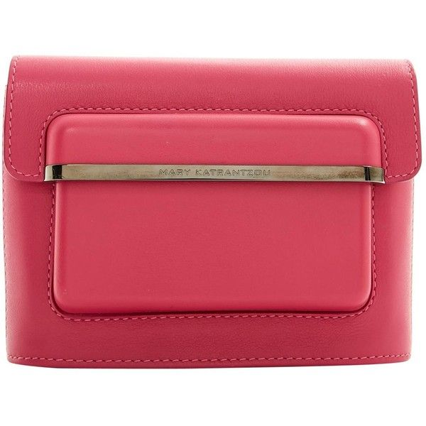 Pre-owned - LEATHER CLUTCH PURSE Mary Katrantzou XF9Md