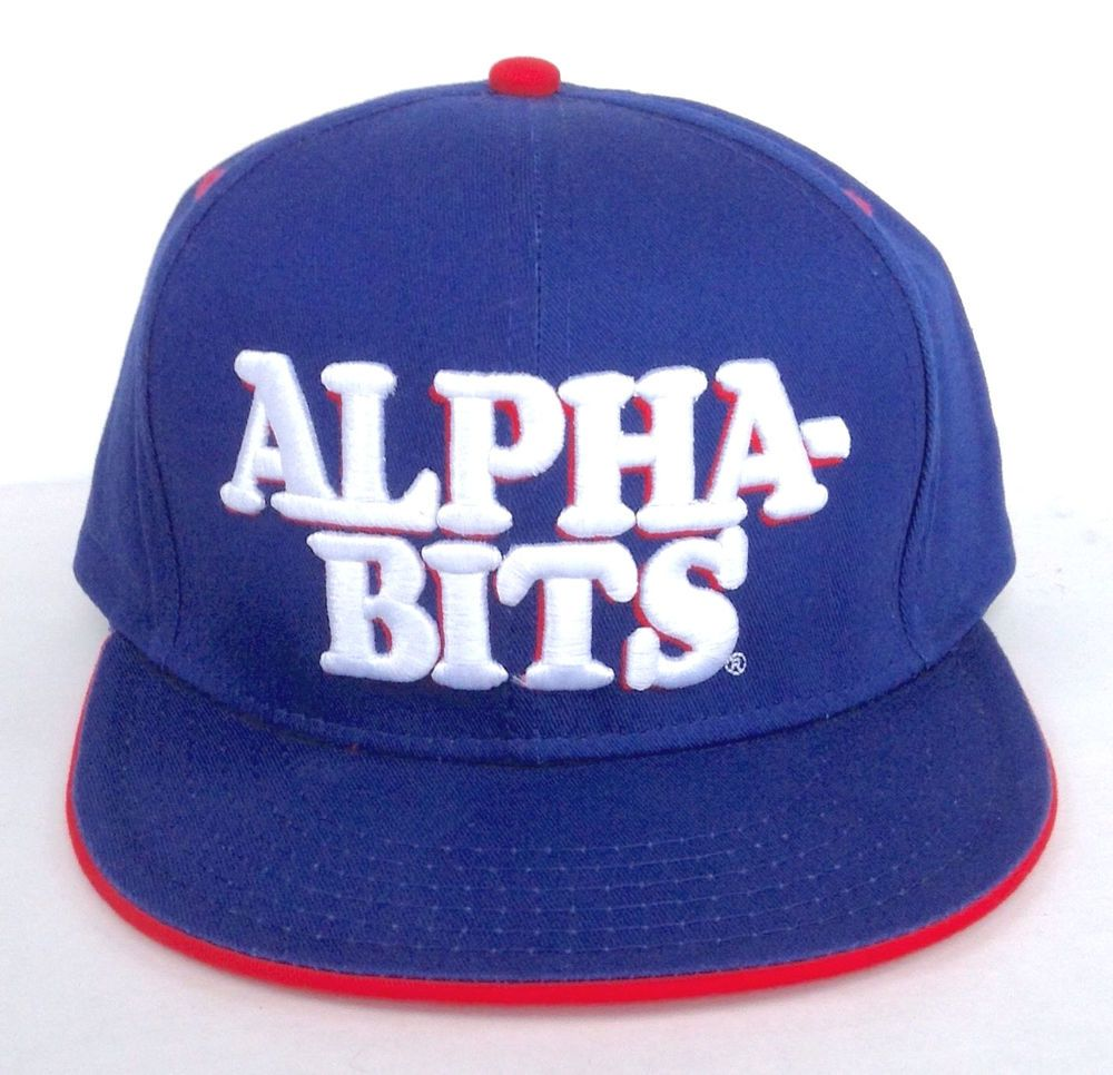 NEW Post Cereal ALPHA BITS SNAPBACK HAT Blue/White/Red Men