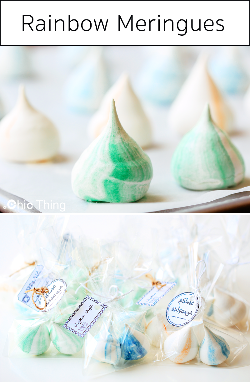 Diy Eid Favors Rainbow Meringues Click Link To Watch The Recipe Https Www Youtube Com Watch V Vhymedbzxea Eid Favours Place Card Holders Rainbow