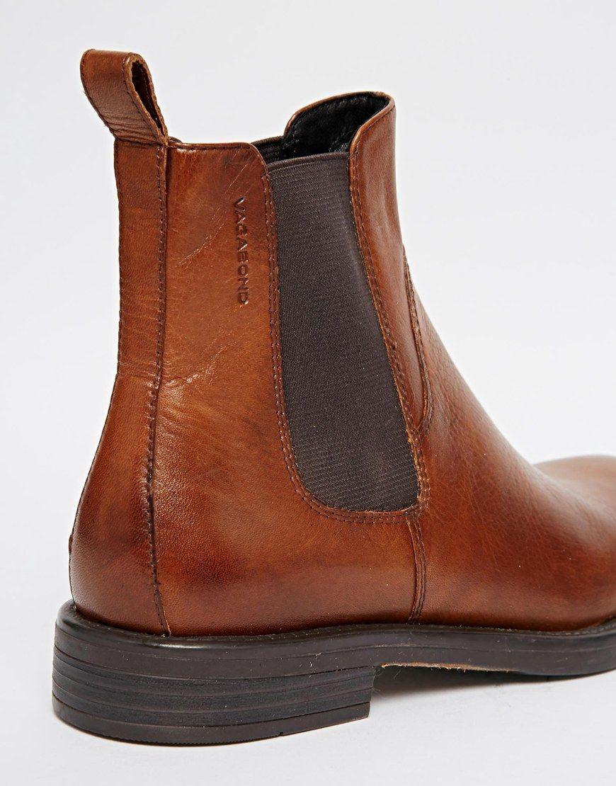 Vagabond Amina Cognac Leather Chelsea Ankle Boots. love
