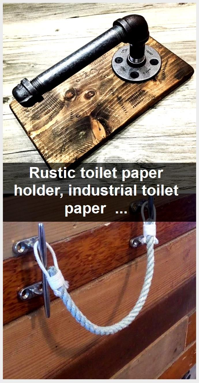 Photo of Rustic toilet paper holder, industrial toilet paper dispenser, steampunk bathroom fixture, in…