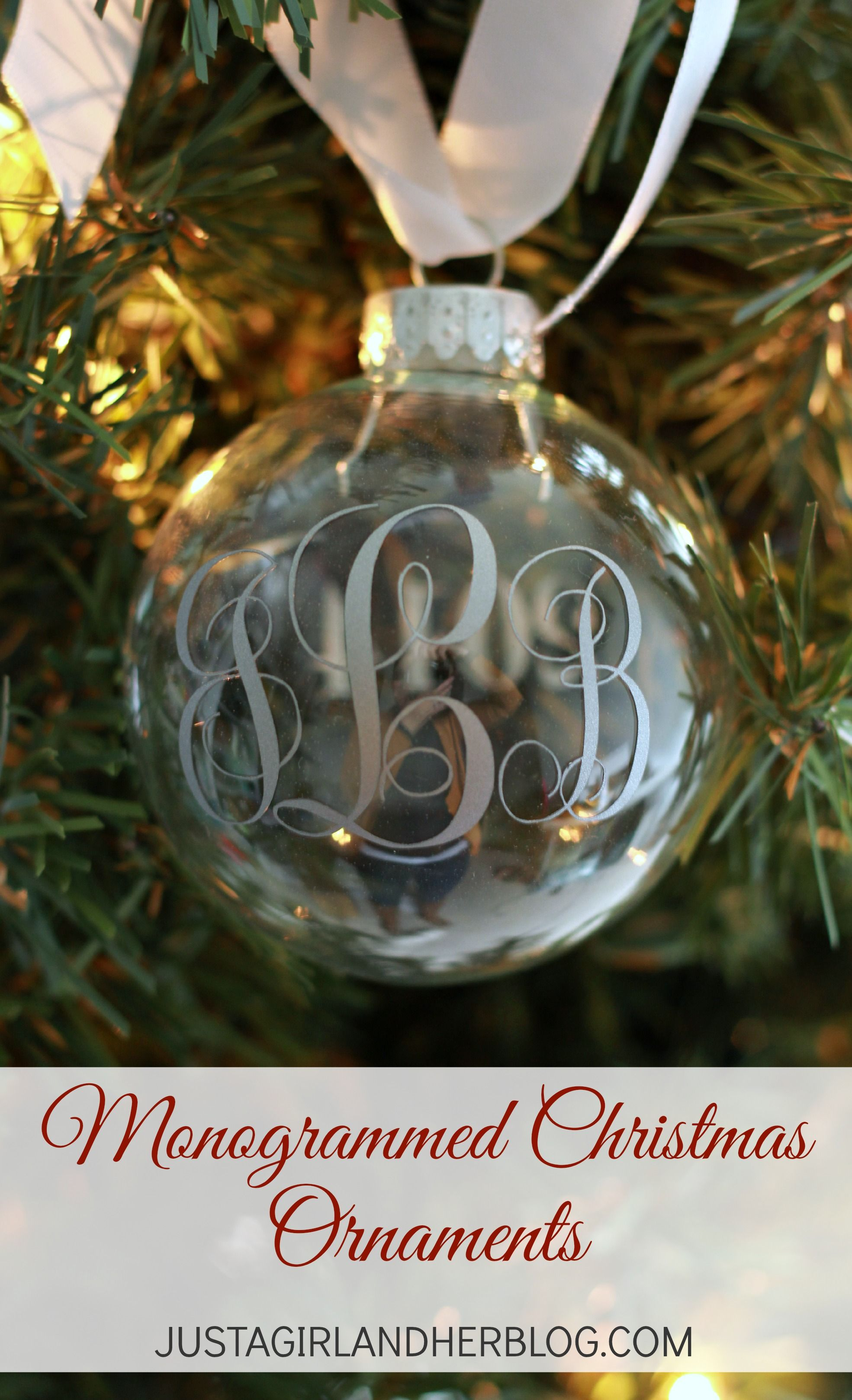 picture about Justagirlandherblog titled Monogrammed Xmas Ornaments Abby Lawson - Precisely a Lady