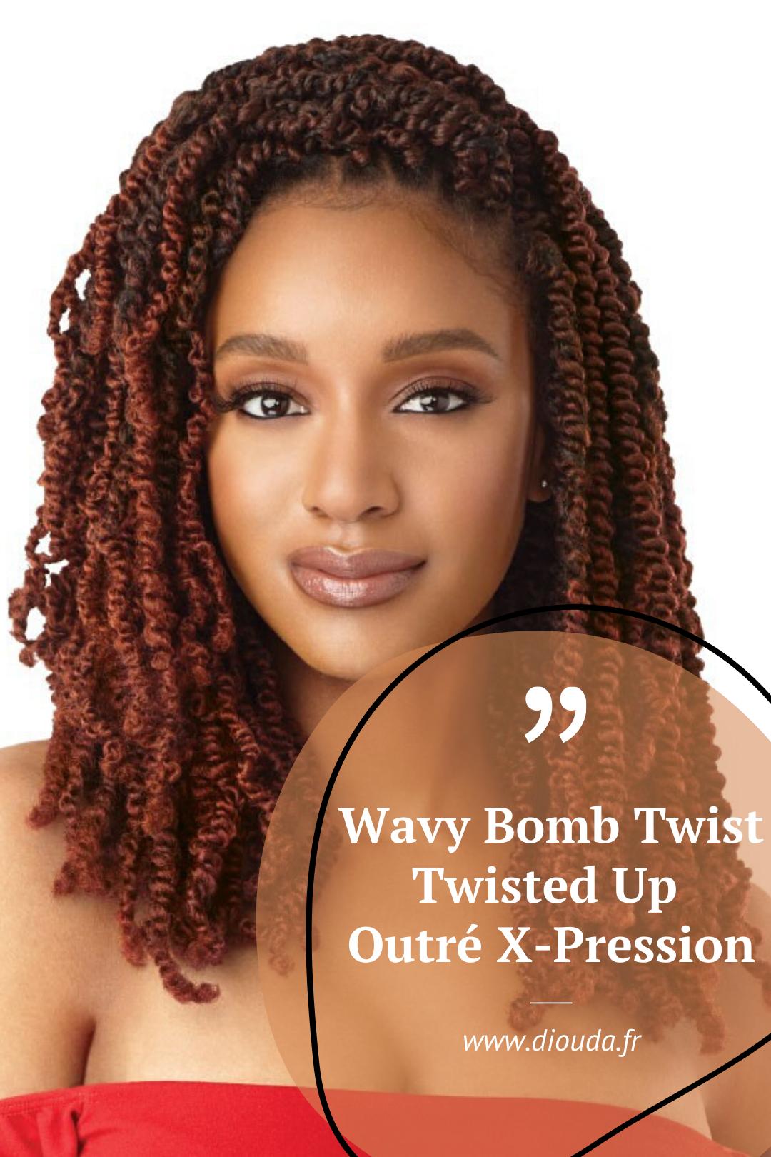 Crochet Braid Wavy Bomb Twist Coiffure Africaine Tissage Court Coiffure Africaine Tresse Meche Idee Coiffure Cheveux Crepus