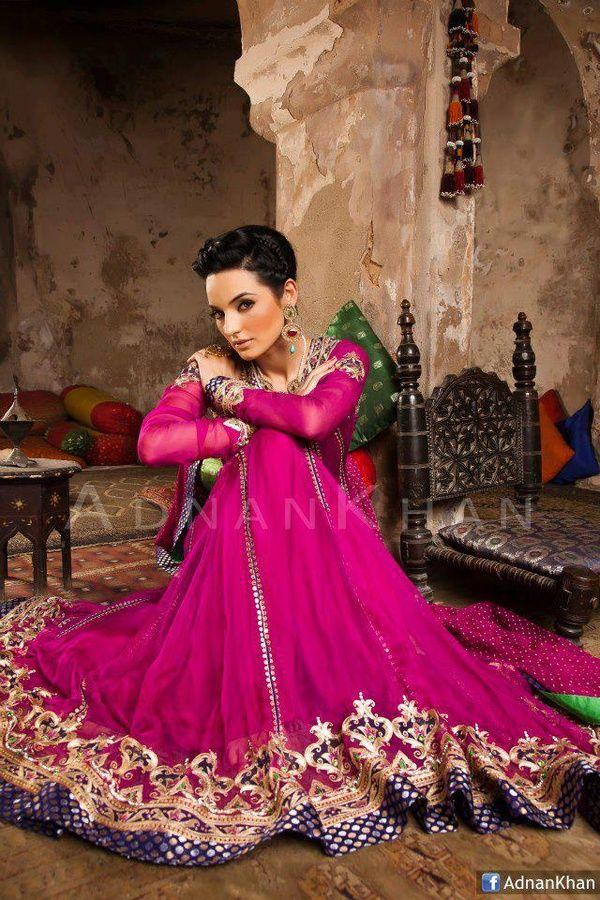pink, golden, purple, green wonderful, pretty designer dress ...