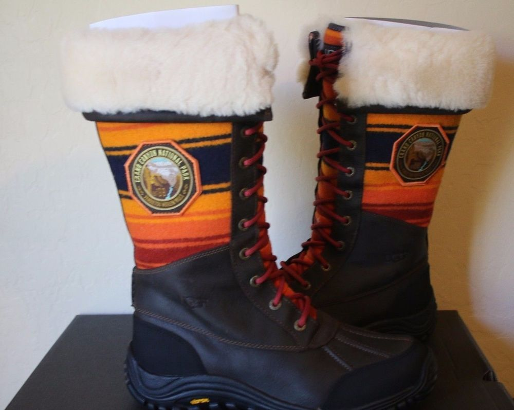 f7ce0d7ff5c Details about UGG Pendleton National Park Grand Canyon Grizzly Boots ...