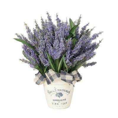 Creative Displays Inc Lavender Heather Desktop Flowering Plant In French Clay Pot Faux Flowers Artificial Plants Artificial Plant Arrangements
