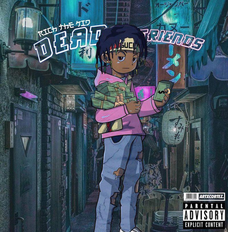Rich The Kid Releases Visuals For His Dead Friends Single Anime Rapper Rapper Art Album Cover Art Cartoon rapper wallpaper rich kid