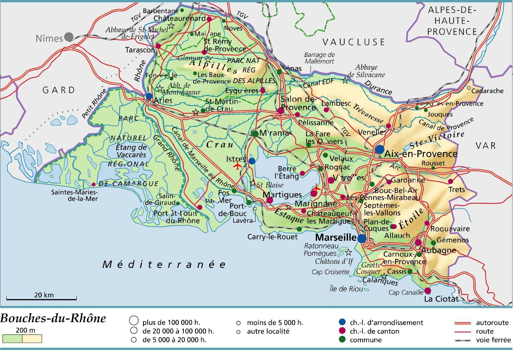 Carte Des Bouches Du Rhone Rhone Bouche Du Rhone