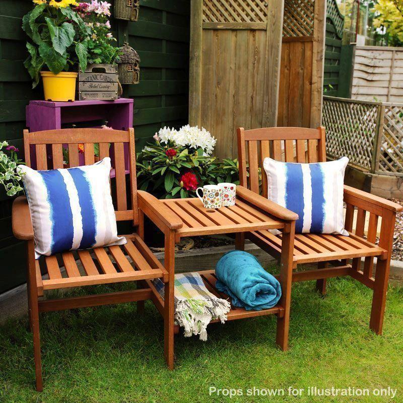 Prime Garden Seat Wooden Bench Chair Companion Patio Set Duo Short Links Chair Design For Home Short Linksinfo
