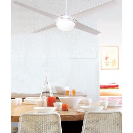 Futura eco 132cm fan and light in whitefansbeacon lighting