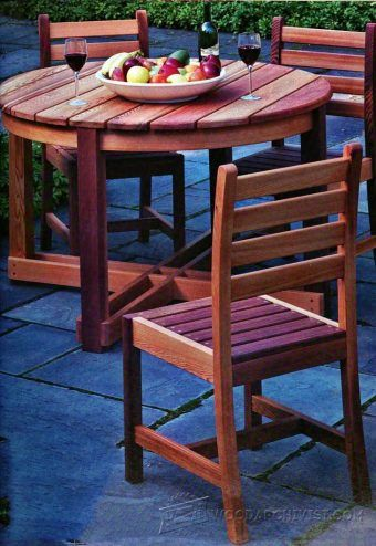 folding table plans outdoor furniture plans projects woodwork