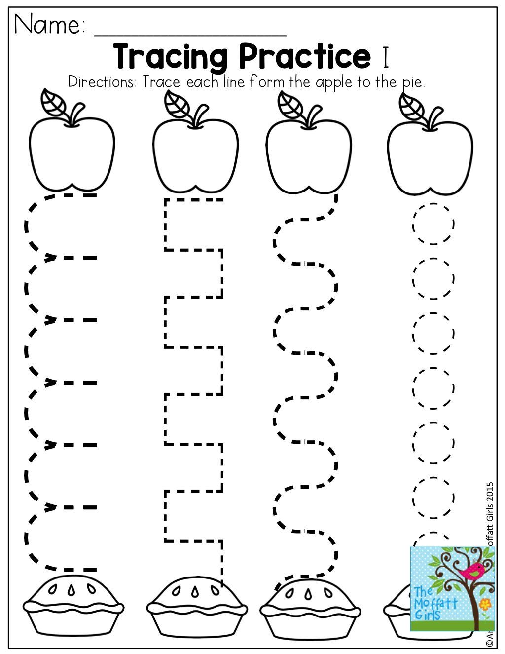 Numbers tracing printables for preschoolers - Preschool Activities