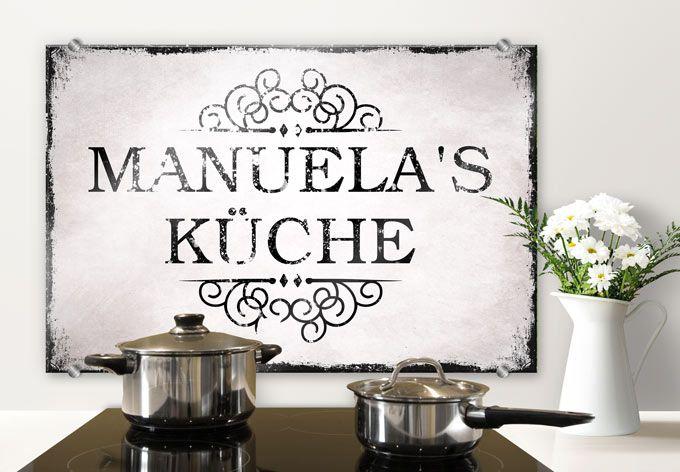 Spritzschutz + Wunschtext Shabby Küche Shabby, Walls and House - küche spritzschutz selber machen