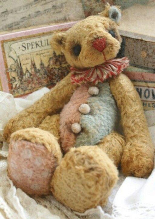 Pin von Yvonne Strandkvist auf Teddy Bears and Cloth Dolls, vintage ...