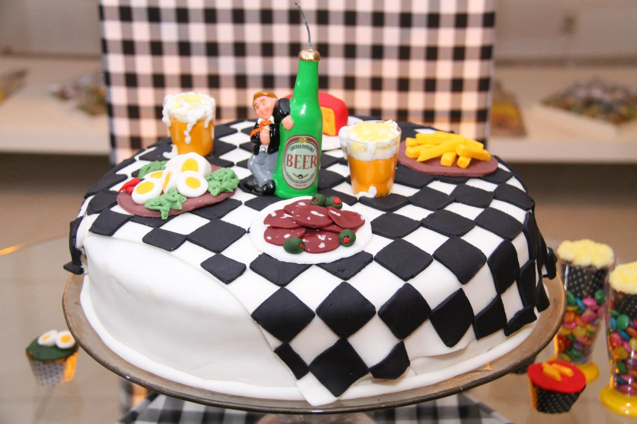 bolo para homem BOTECO Pesquisa Google Tema para festas Pinterest Bolos para homens  -> Decoração Festa De Boteco Para Homem