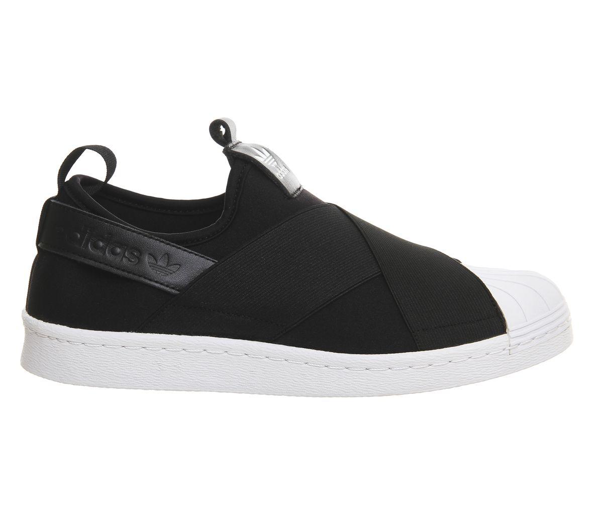 Black · Adidas Superstar Slip On Core Black White ...