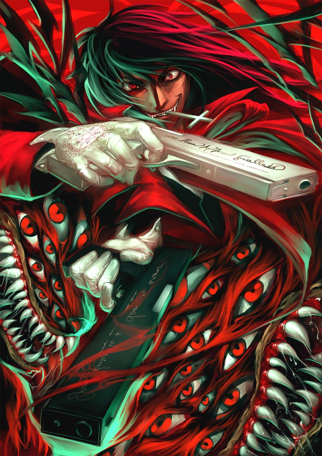 Anime wallpaper 1240x1753 hellsing alucard pistol hd - Anime hellsing wallpaper ...