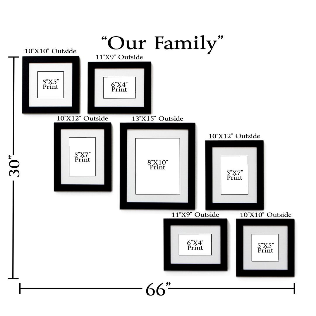 """Our Family"" 7-Frame Family Portrait Gallery With 1.5"