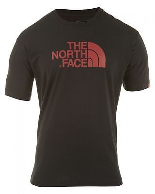 North Face Half Dome Tee  Mens T-Shirts AT4D-3M9 Blk/Cardinal Red SZ-L