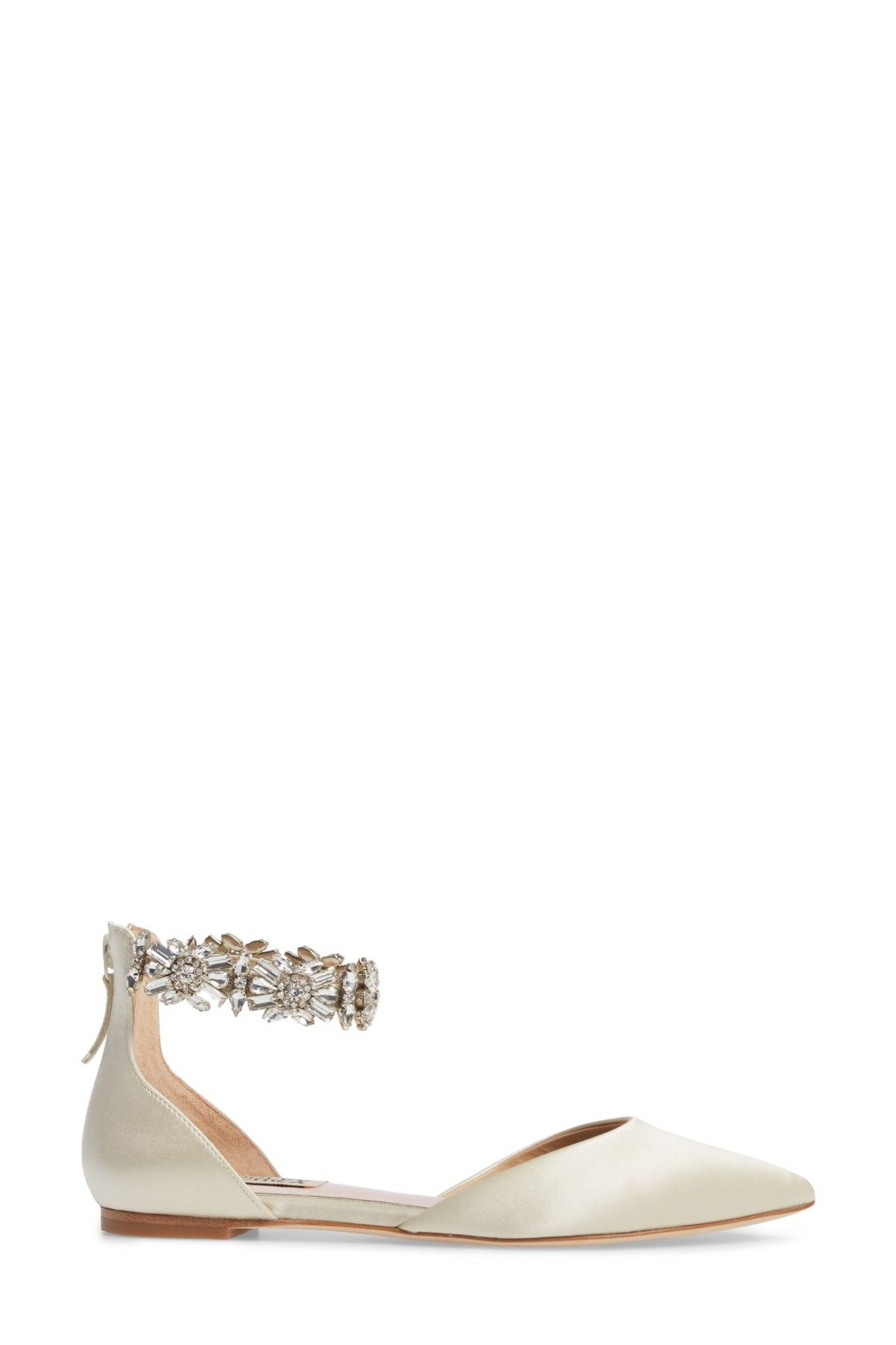 7922a2f270b6 Image of Badgley Mischka Morgen Ankle Strap Flat