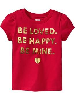 Purchased Red Apple Of My Eye Cap Sleeve Graphic Tees For Baby