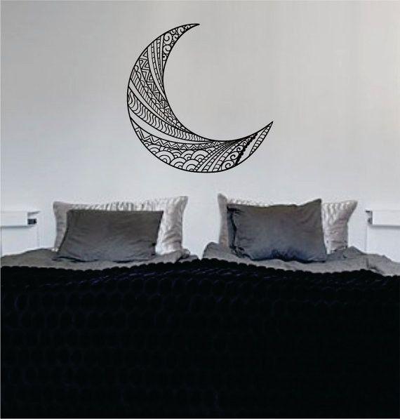 Moon Version 1 Design Outer Space Decal Sticker Wall Vinyl Art Home