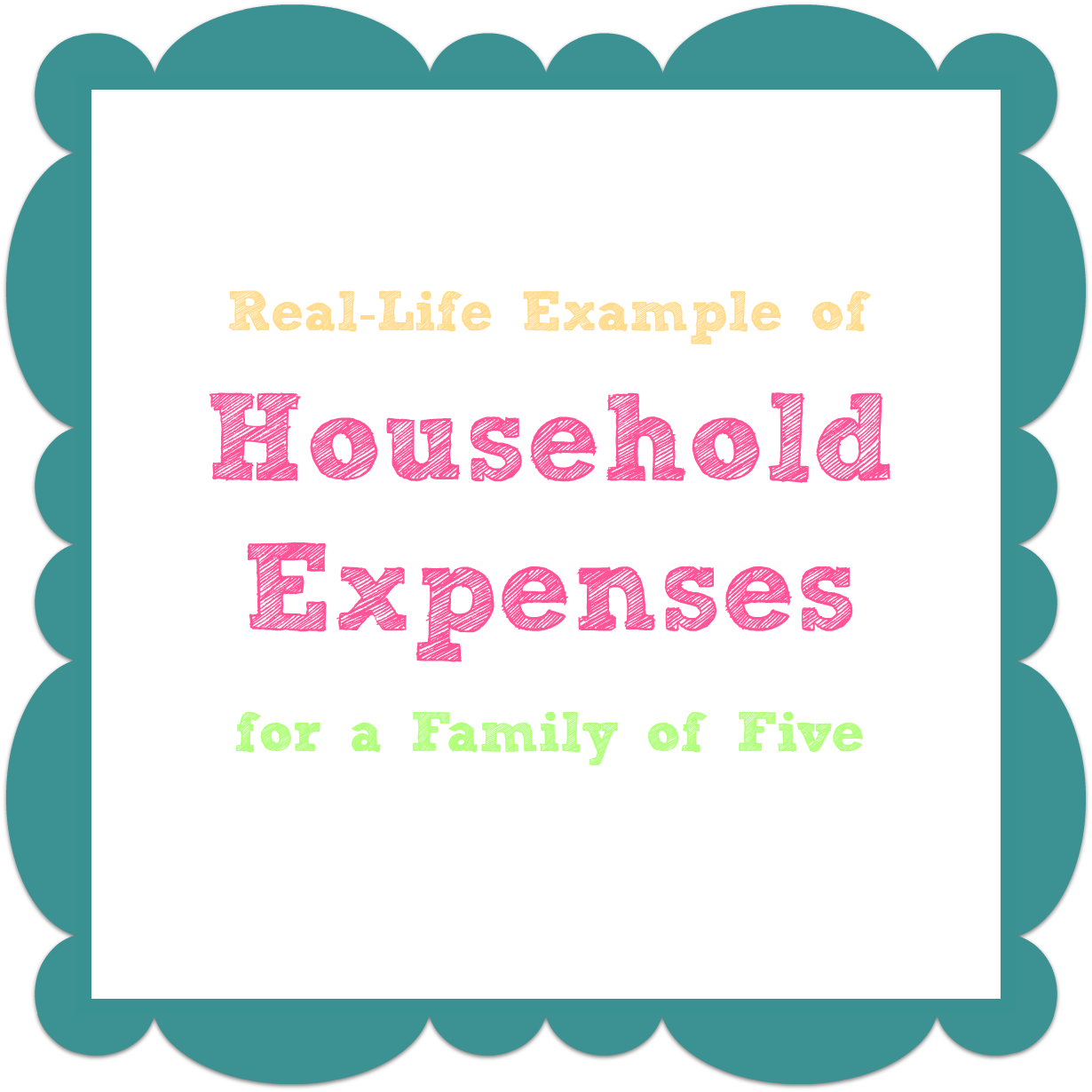 Create A Household Expenses List To Save Money  Household