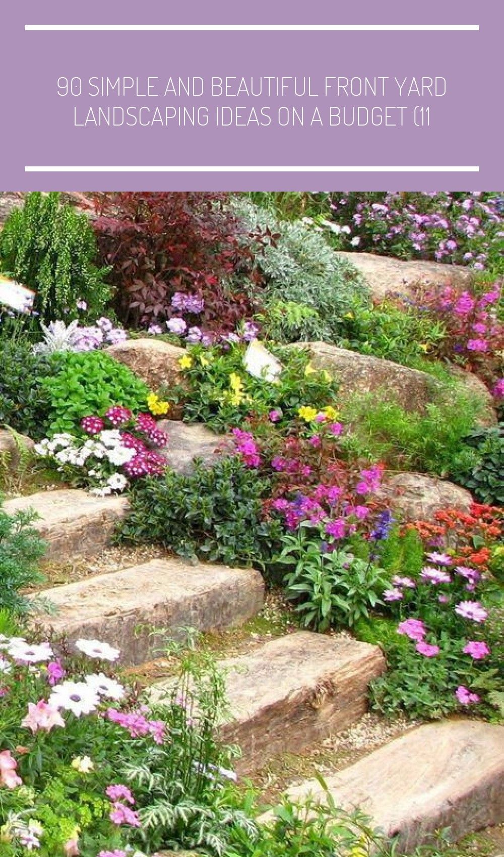 90 Simple And Beautiful Front Landscaping With Rocks Front Yard Landscaping Rock Garden Landscaping