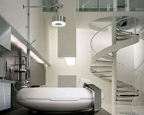 The White Futuristic Bathroom Remodelling Ideas With Modern Custom Interior Design Technology Remodelling