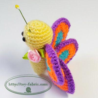 Butterfly crochet | amigurumi free pattern | Pinterest
