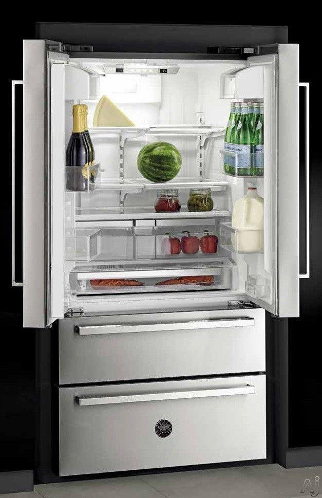 Bertazzoni Ref36x 36 Inch Freestanding French Door Refrigerator With 21 Cu Ft Capacity 4 Half Width Adjustable Glass Shelves Gallon Door Storage Sup Kjokken