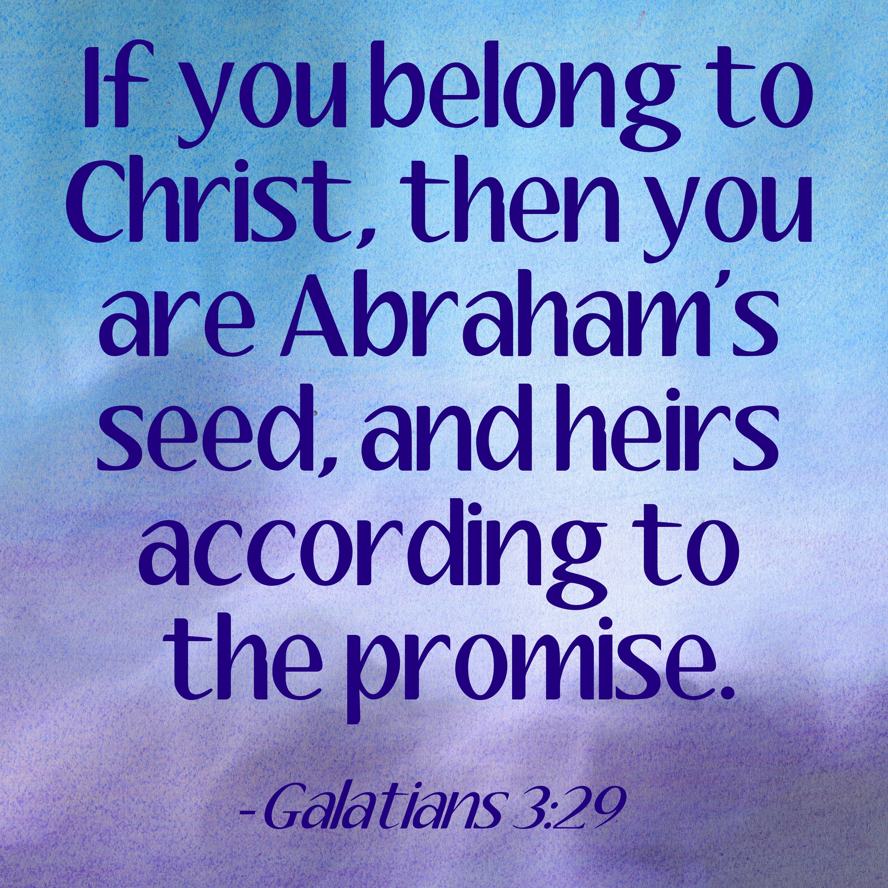 Image result for Galatians 3:29