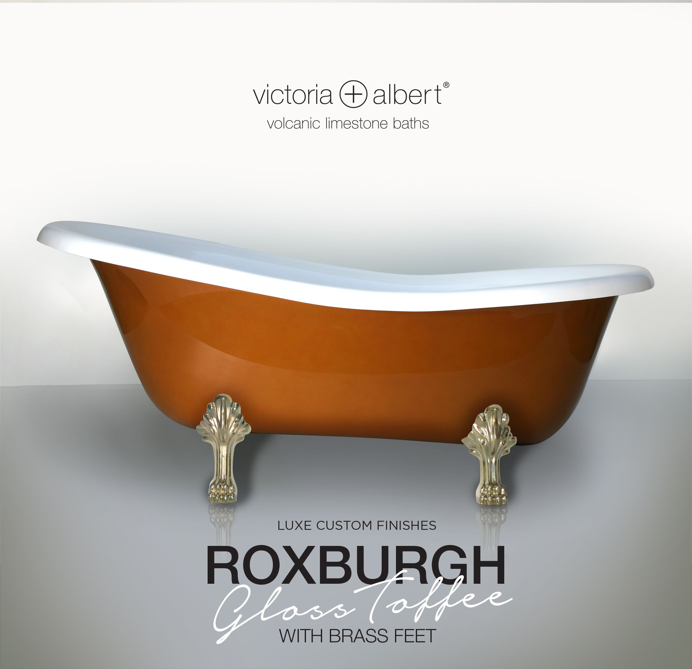 Luxe Custom Finishes Victoria + Albert Roxburgh claw foot bath in ...