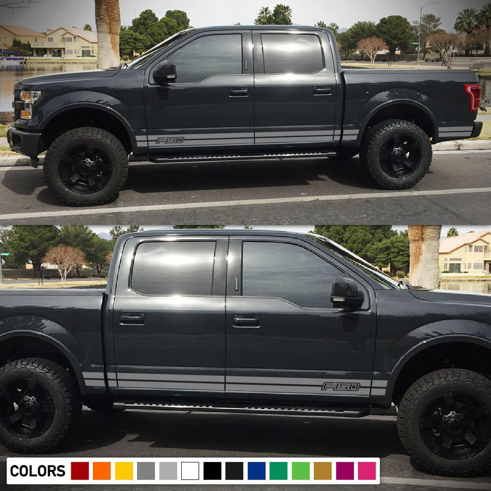 Decal sticker graphic side stripes for ford f150 bed led light fender off road