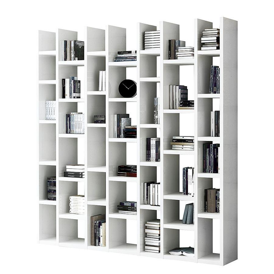 Biblioth Que Emporior Ii Blanc Meuble Tv Bibliotheque  # Bibliotheque Meuble Tv Ordinateur