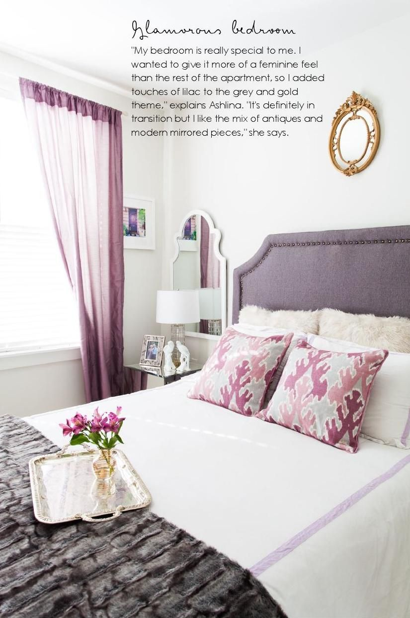 purple bedroom from adore octnov 2014  beautiful