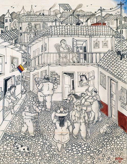 Botero, dibujos en tela y en papel en el Museo Nacional de Bellas ...