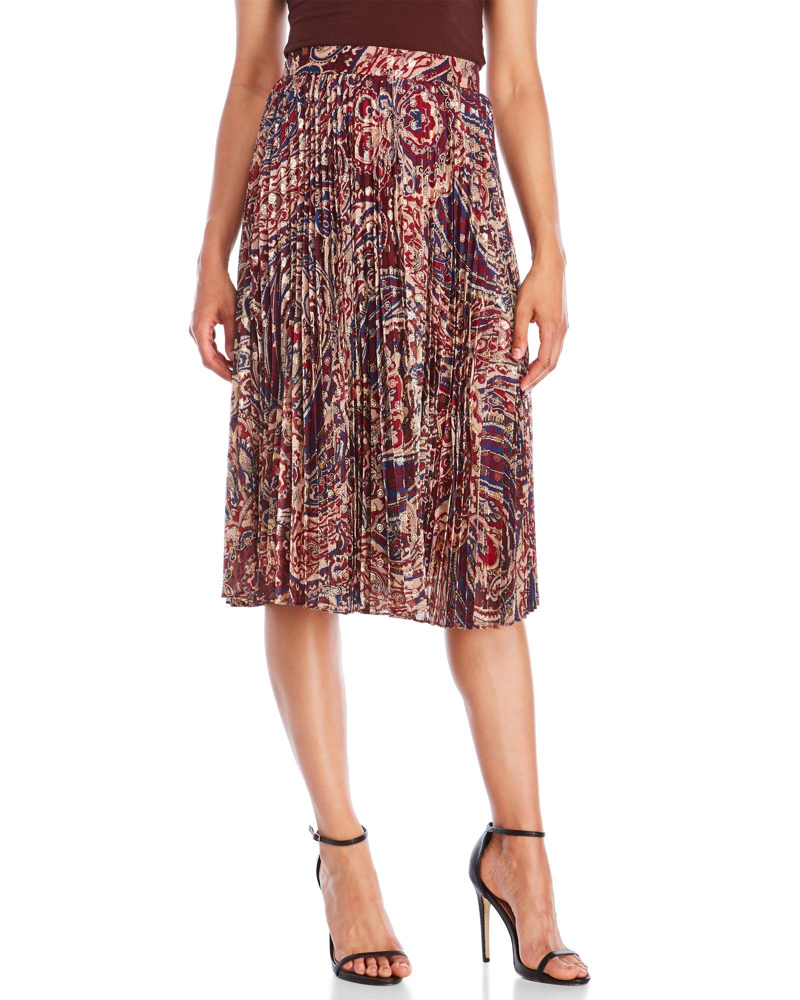 8e5346923ed8e2 Pleated Paisley Midi Skirt | *Apparel & Accessories* | Midi skirt ...
