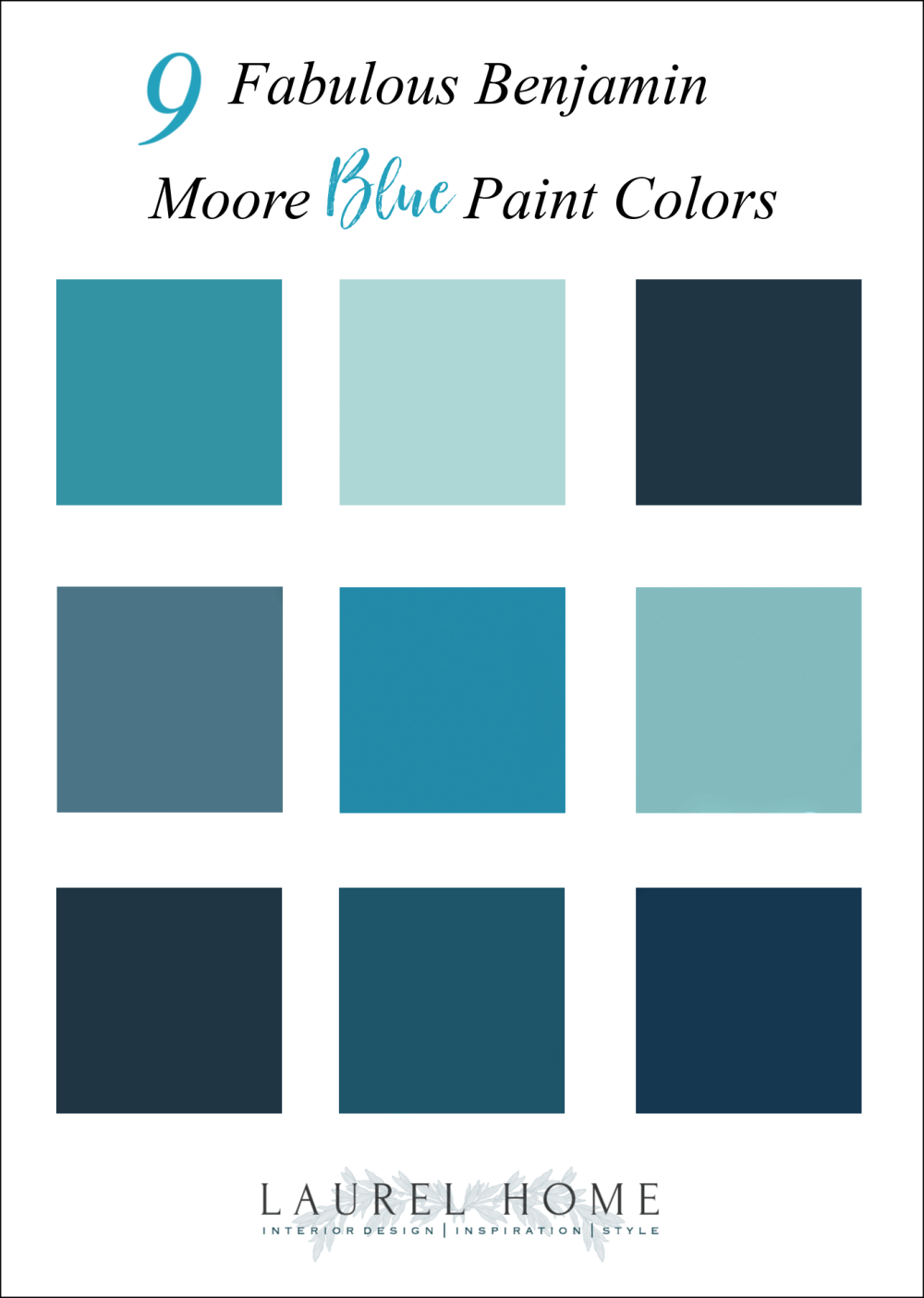 Nine Fabulous Benjamin Moore Blue Paint Colors