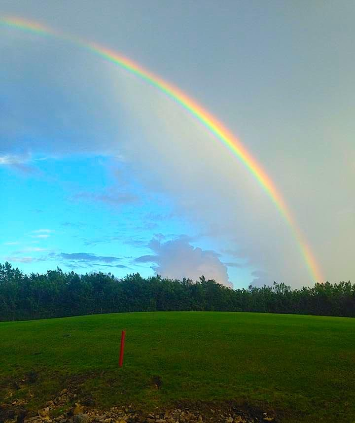 Over the rainbow... Maybe the gold is in the clubhouse?