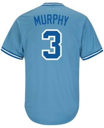 4852fe6a9 Majestic Men's Dale Murphy Atlanta Braves Cooperstown Player Replica Cb  Jersey - Blue XL