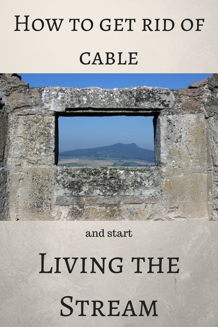 A step by step guide to getting rid of cable. I'm just a ...