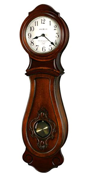 Decorative Carvings Frame The Glass Pendulum Window In The Front Panel Which Reveals The Antique Brass Finished Pendulum Chiming Wall Clocks Wall Clock Clock