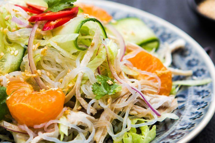 asian salad calorie Low