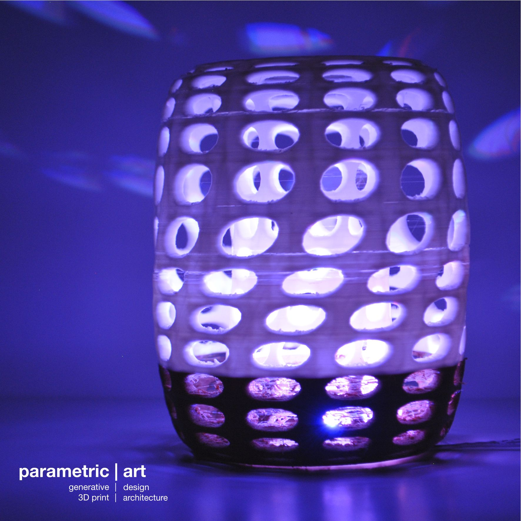 amazing lampshade 3d printed with wood and PLA - designed by parametric | art http://parametric-art.com/3d-nyomtatas/