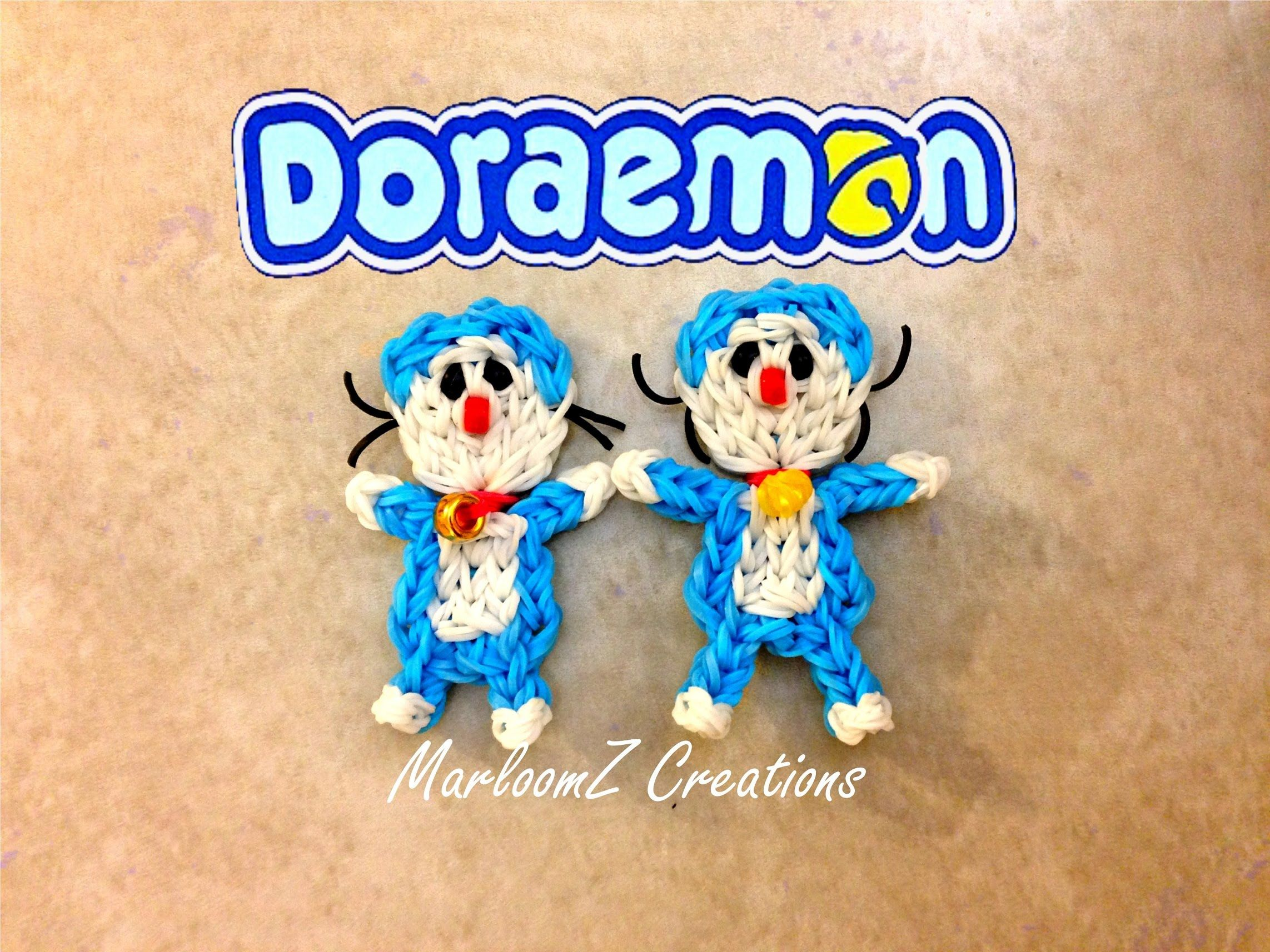 Rainbow Loom Doraemon Tutorial: How To with Loom bands ドラえもん
