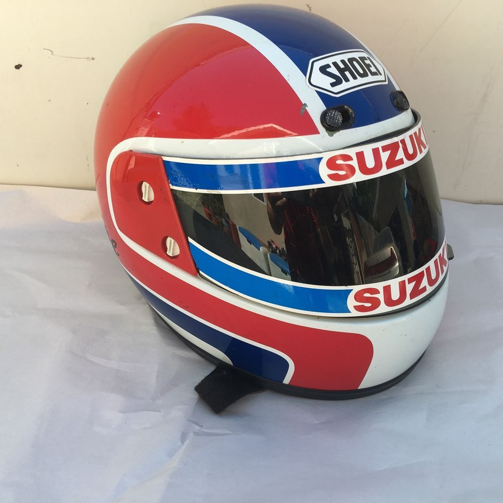 Shoei Snell M85 Vintage White Full Motorcycle Helmet Size L Suzuki Motorcycle Helmets Helmet Suzuki