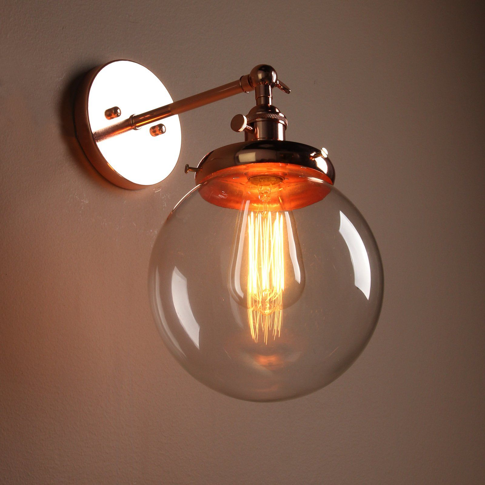 Modern Kitchen Battery Operated Buyee Modern Vintage Industrial Edison Wall Sconce Glass