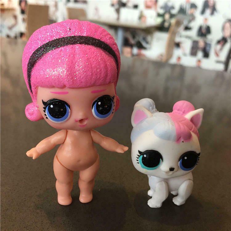 2pcs LOL Surprise Pets Doll Animals Big Sister Vacay Baby+Sugar Pup Dog Girl Toy